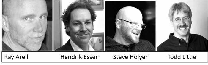 Agile Europe 2016 panel discussion with Ray Arell, Hendrik Esser, Steve Holyer, Todd Little, and Steve Denning