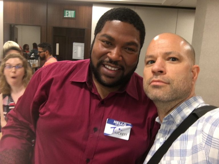 Men representing at #WomenInAgile – Ty Crockett and Chris Murman