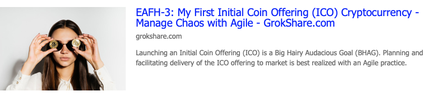 My First Initial Coin Offering (ICO) Cryptocurrency – Manage Chaos with Agile