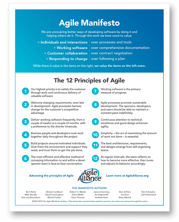 Download Agile Manifesto 12 Principles
